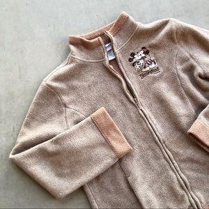 DISNEYLAND Mickey & Minnie Mouse Fleece Zip Jacket